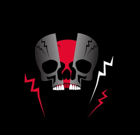 Metamorphosis skull icon background