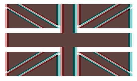 British flag color channel effect background vector