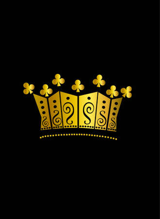 Crown vector gold on the  black background