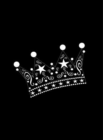 Crown vector black and white background