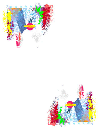Multicolor abstract background vector with stars