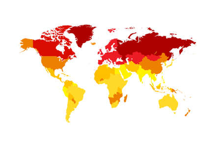 World map Global Warming infographic, isolated on the white background Vectores