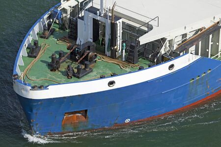 ship bow: Bow of a cargo ship