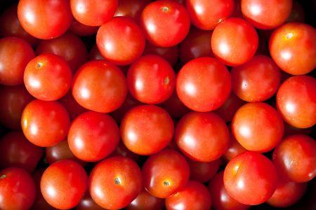 Ripe cherry tomatoes: close up Reklamní fotografie