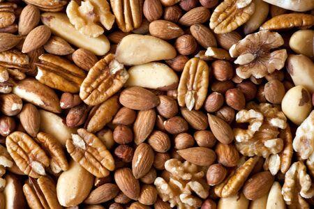 A selection of nuts: close-up Reklamní fotografie