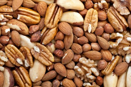 unsaturated: A selection of nuts: close-up Stock Photo