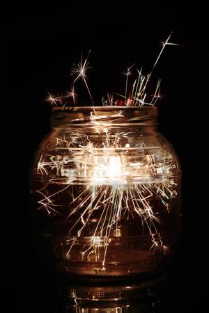 Sparkles In A Jar Reklamní fotografie