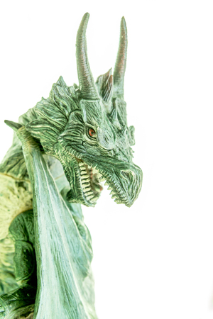 realistic dragon toy isolated white background