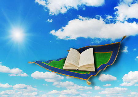 education: Book on a flying carpet