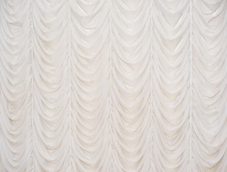 Beautiful beige curtain photo