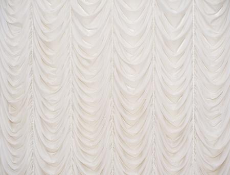 Beautiful beige curtain photo