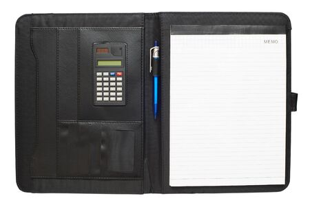 Black leather folder  photo