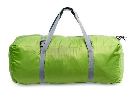 Green luggage bag Stockfoto