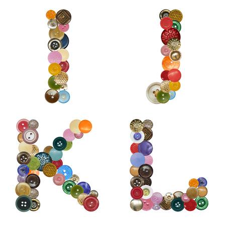 Alphabet of buttons Stockfoto