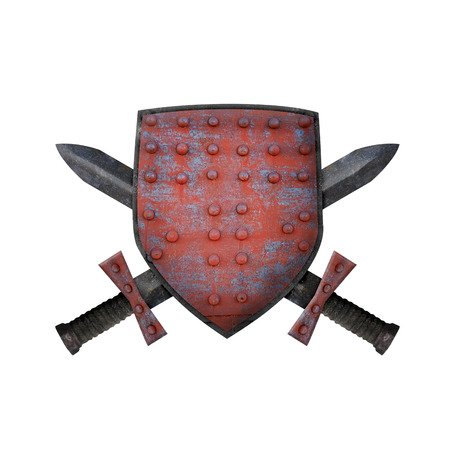 Old shield and two swords