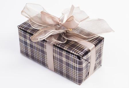 Gift box isolated on white background photo
