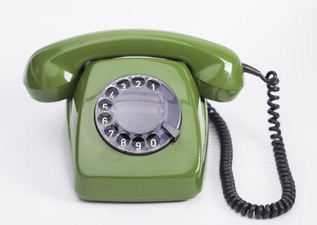 Téléphone vert Banque d'images - 25297451