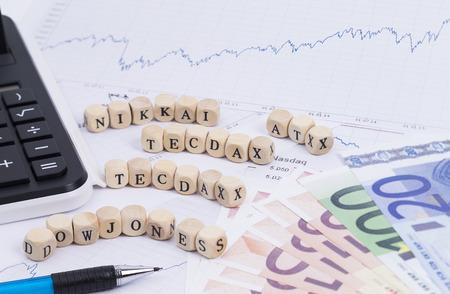 trading floor: Index of stocks