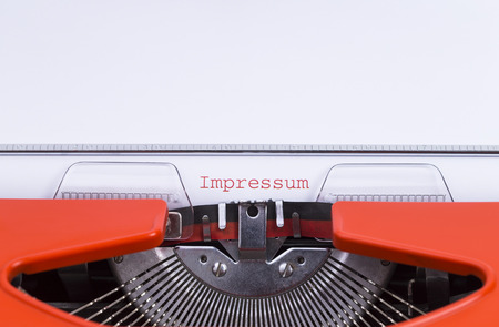 imprint: Image shows the word Contacts, written on an old typewriter Stock Photo