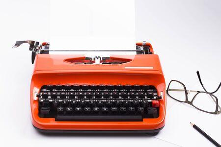 Image shows on old typewriter
