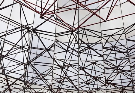 Abstract celling metal construction