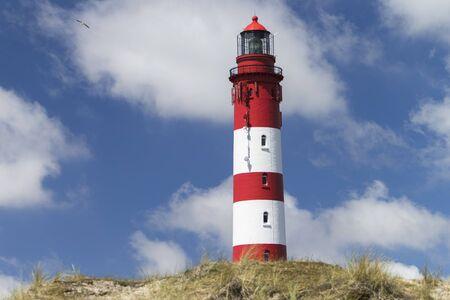 Lighthouse on sand dune