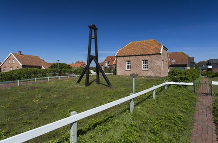 The image shows a church on the island of Baltrum