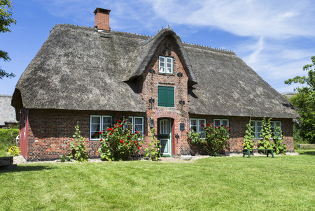 Image shows a museum house on the island Amrum