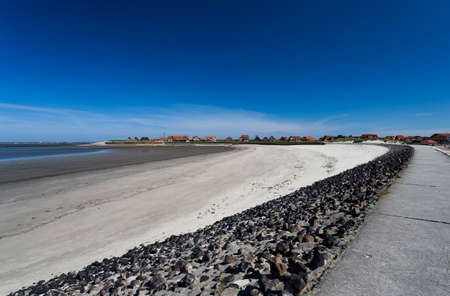 Panoramic view of the Baltrum pier Standard-Bild