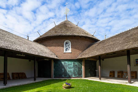 The photo shows the island church of St. Nikolaus on the North Sea island of Baltrum