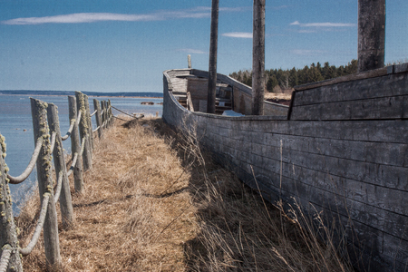 ship wreck: old ship wreck on the Bay of Fundy, New Brunswick