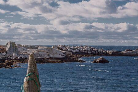 nova: scenery at the Nova Scotia coast near Peggys Cove Stock Photo