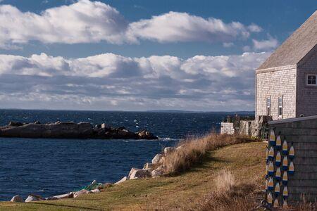 nova scotia: view of Nova Scotia shoreline Stock Photo