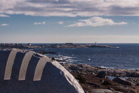 nova scotia: View from flight 111 memorial of Peggys Cove, Nova Scotia