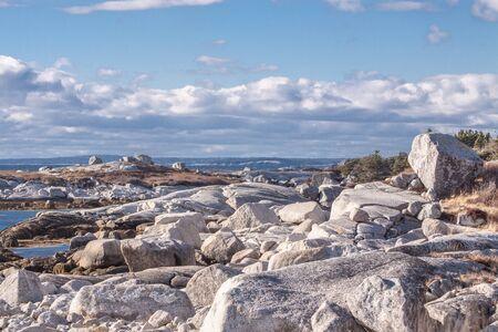 scotia: Peggys Cove,Nova Scotia, view along the shore Stock Photo