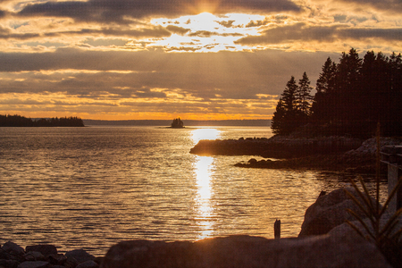 scotia: Sunset at the atlantic coast , Nova Scotia