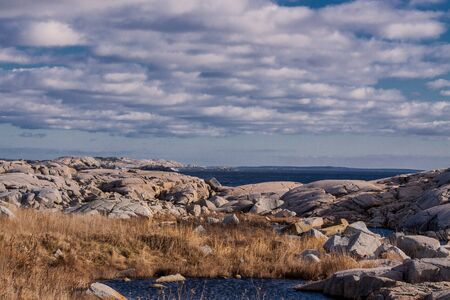 nova scotia: Peggys Cove,Nova Scotia, view along the shore Stock Photo