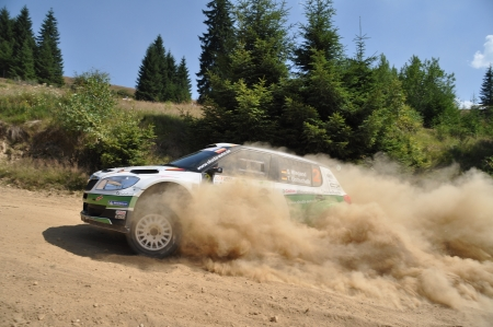 irc: SIBIU, ROMANIA - JULY 20 2012: Wiegand SeppGottschalk Timo - Skoda Fabia S2000 - IRC Rally Sibiu 2012
