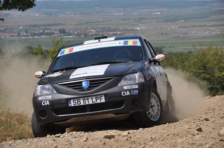 irc: SIBIU, ROMANIA - JULY 20 2012: Nastase BogdanPopidan Alexandru - Dacia Logan - IRC Rally Sibiu 2012