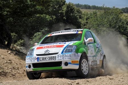 irc: SIBIU, ROMANIA - JULY 20 2012: Bako LaszloToth Szabolcs - Citroen C2R2 Max - IRC Rally Sibiu 2012 Editorial