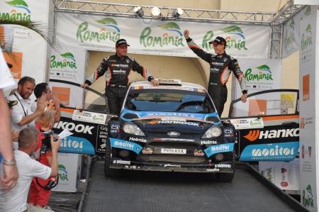 irc: SIBIU, ROMANIA - JULY 20 2012: Flodin PatrickBergsten Goran - Ford Fiesta S2000 - IRC Rally Sibiu 2012 Editorial