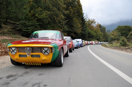 hillclimb: RASNOV, ROMANIA - SEPTEMBER 30 2010: Lineup for Trophy Rasnov 2010