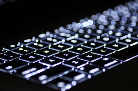 teclado de computadora: Teclado retroiluminado por ordenador