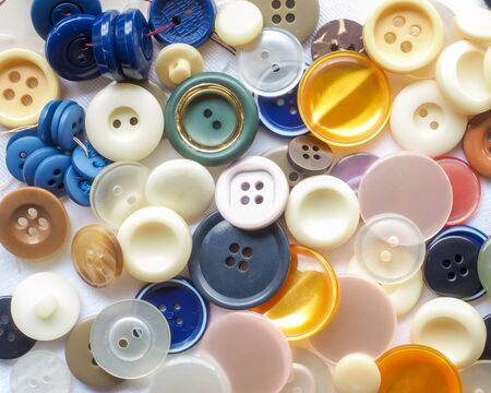 haberdashery: Buttons Colored