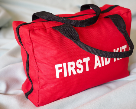 emergency kit: First Aid Kit Closeup