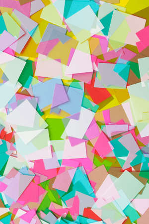 cut paper: Cut Colored Paper Squares 2 Stock Photo
