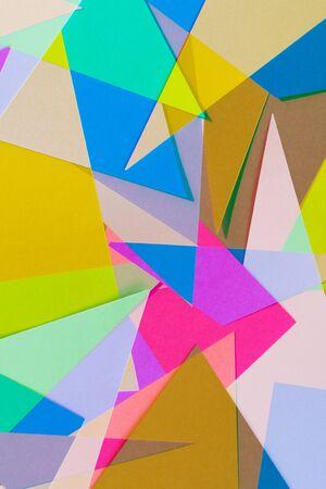 colored paper: Cut Colored Paper 9 Stock Photo