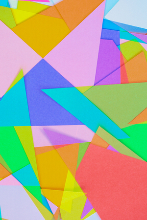 colored paper: Cut Colored Paper 10 Stock Photo