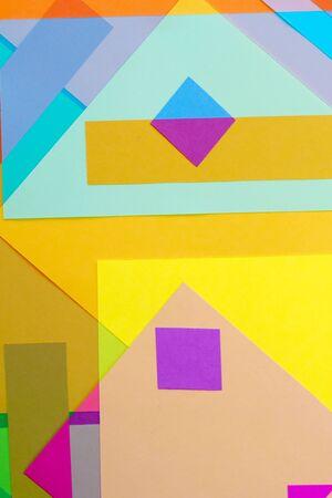 colored paper: Cut Colored Paper 17 Stock Photo