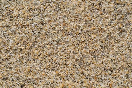 浜の砂の穀物、クローズ アップで興味深いテクスチャを作成します。 写真素材